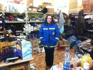 Jarina Tschagowetz leitet die Freiwilligen im Charkiwer Militärkrankenhaus.