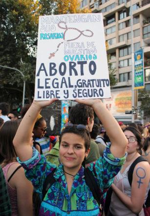 Demonstrantin Chile