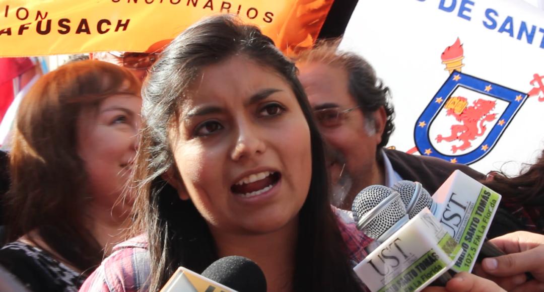 Camila Rojas beim Studentenprotest 1