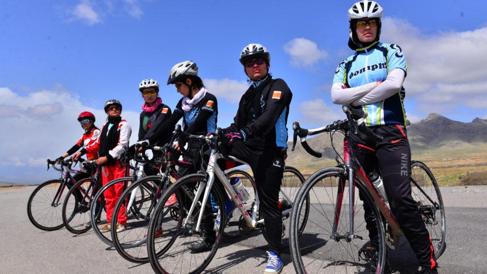 Saleem fotografierte das weibliche Radteam.