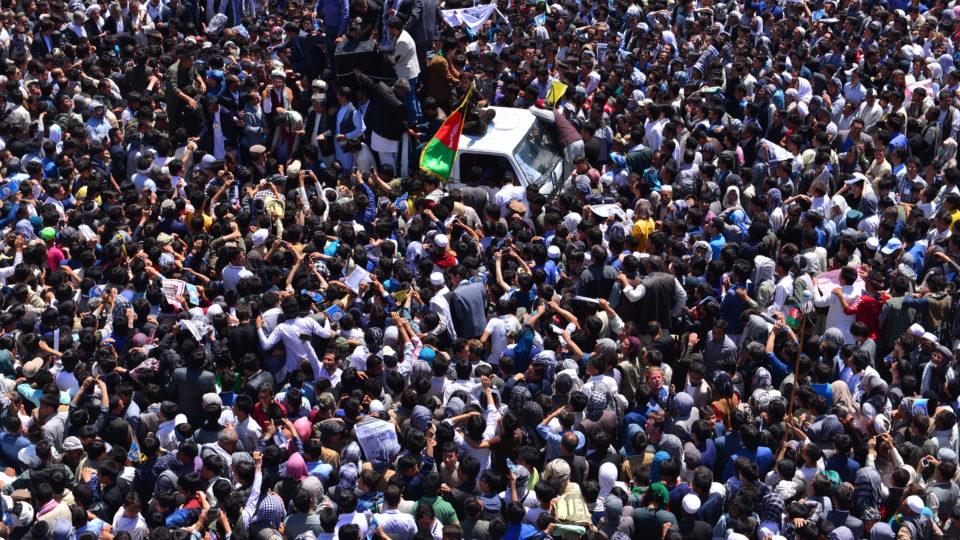 Begräbniszug in Kabul nach einem Selbstmordattentat.